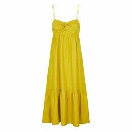 JOIE Chayton Yellow Woven Midi Dress