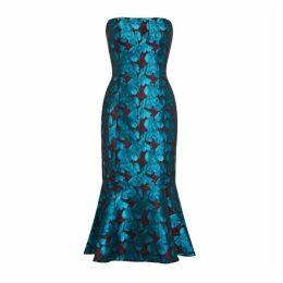 Aidan Mattox Strapless Jacquard Dress