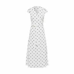Ivy & Oak Midi Polka Dot Wrap Dress