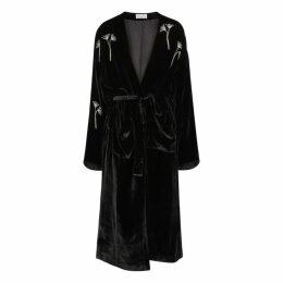 Beau Souci Embellished Velvet Wrap Dress