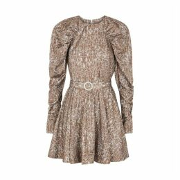 ROTATE Birger Christensen Number 26 Reptile-print Mini Dress