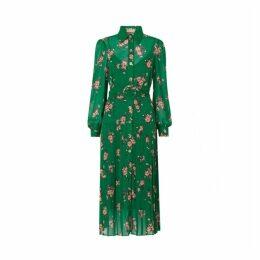 Kitri Tara Green Pleated Shirt Dress