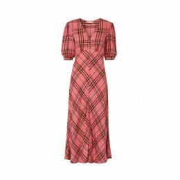Kitri Joy Pink Check Tea Dress