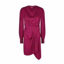 Isabel Marant Rachel Fuschia Jacquard Mini Dress