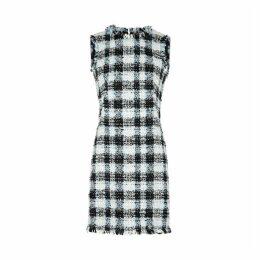 Alexander McQueen Checked Bouclé Tweed Mini Dress