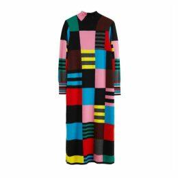Chinti & Parker Multicolour Eccentric Wool-cashmere Sweater Dress