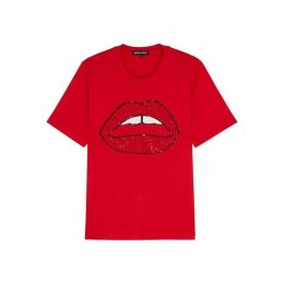 Markus Lupfer Alex Embellished Cotton T-shirt