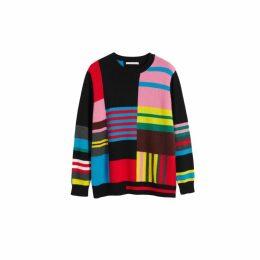 Chinti & Parker Multicolour Eccentric Wool-cashmere Sweater