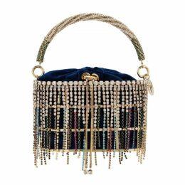 Rosantica Penelope Crystal-embellished Top Handle Bag