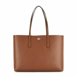 Kate Spade New York Molly Large Brown Leather Tote