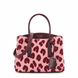 Kate Spade New York Margaux Pink And Red Calf Hair Top Handle Bag