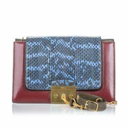 Mulberry Red Python Pembroke Shoulder Bag