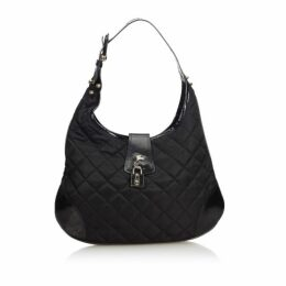 Burberry Black Quilted Nylon Brooke Hobo Bag
