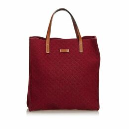 Gucci Red Diamante Felt Tote Bag
