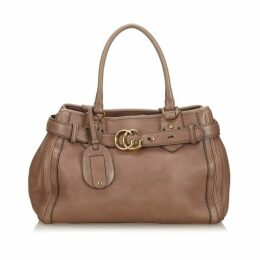 Gucci Brown Leather Running Tote