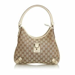 Gucci Brown Gg Jacquard Abbey Shoulder Bag