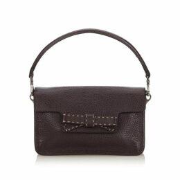 Prada Brown Leather Baguette