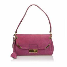 Prada Purple Suede Shoulder Bag