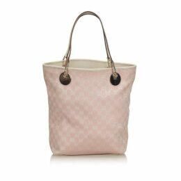 Gucci Pink Gg Canvas Eclipse Tote Bag