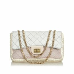 Chanel White Reissue Jumbo Nylon Flap Bag