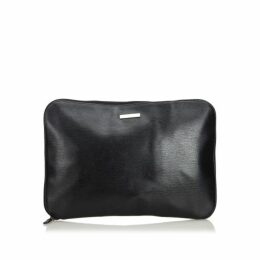 Gucci Black Leather Clutch Bag