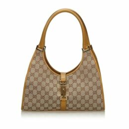 Gucci Brown Gg Canvas Jackie Shoulder Bag