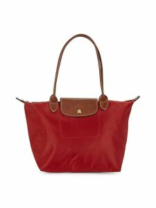 Logo Leather Tote