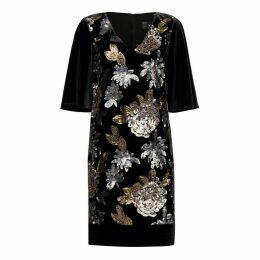 Nissa - Elegant Dress With Sequin Printed Details