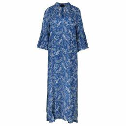 Anna Etter - Midi Purple Doreen Dress With Birds Print