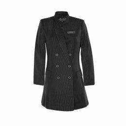 Hayley Menzies - Tigress Knit Coat - Turquoise White
