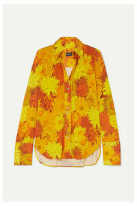 Ellery - Walpole Floral-print Stretch-jersey Shirt - Orange