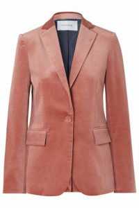 FRAME - Cotton-blend Velvet Blazer - Pink