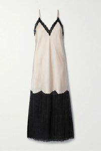 Altuzarra - One-sleeve Ruffled Lamé Top - Dark gray
