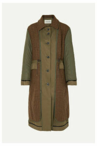 Andersson Bell - Khloe Reversible Twill, Wool-blend And Shell Trench Coat - Army green