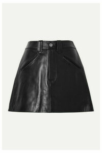 RE/DONE - 40s Western Leather Mini Skirt - Black