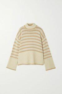 Monse - Asymmetric Paneled Pinstriped Wool Blazer - Black