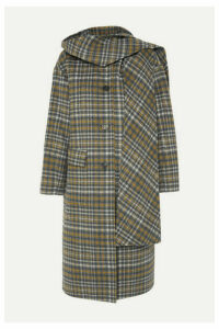 Andersson Bell - Sophia Hooded Checked Wool-blend Coat - Gray