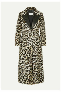 16ARLINGTON - Debbie Leather-trimmed Leopard-print Calf Hair Coat - Leopard print