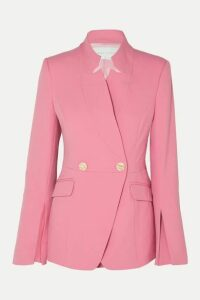 Rebecca Vallance - Sienna Double-breasted Crepe Blazer - Pink