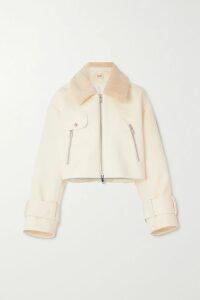Roland Mouret - Carmel Asymmetric Draped Wool-crepe Dress - Red
