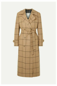 Giuliva Heritage Collection - Christie Checked Merino Wool Coat - Sand