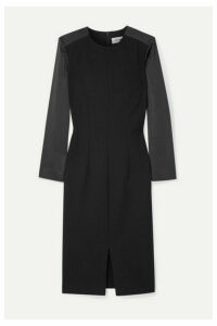 Cefinn - Ponte And Satin Dress - Black