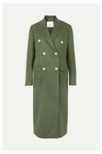 Giuliva Heritage Collection - Cindy Double-breasted Merino Wool Coat - Forest green