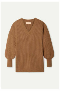 APIECE APART - Napoli Oversized Ribbed Cotton And Cashmere-blend Sweater - Camel