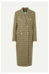 Giuliva Heritage Collection - Cindy Double-breasted Checked Merino Wool Coat - Taupe