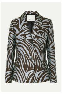 3.1 Phillip Lim - Cotton-blend Zebra-jacquard Blazer - Zebra print