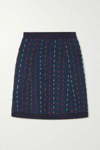 Cefinn - Belted Voile Dress - Claret