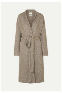 Lauren Manoogian - Belted Mélange Knitted Coat - Brown