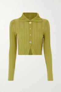 Mugler - Asymmetric Tie-detailed Twill Mini Dress - Black