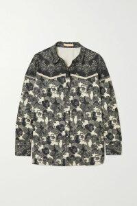 Anna Mason - Bardot Belted Striped Silk-taffeta Maxi Dress - Green